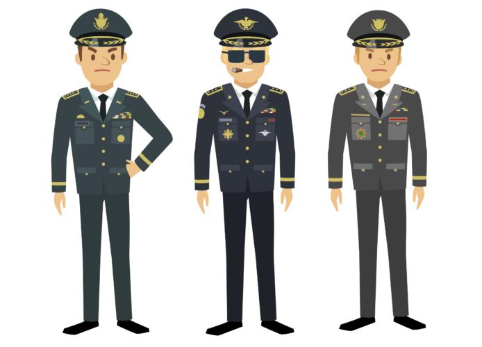 短い任期の一般兵卒と職業軍人として長く勤務する幹部要員の採用は別になっている例が多い