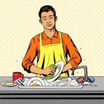 ビル・ゲイツ氏は皿洗いを楽しんでいる