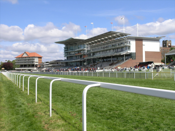 York horse racing course. UK, York.