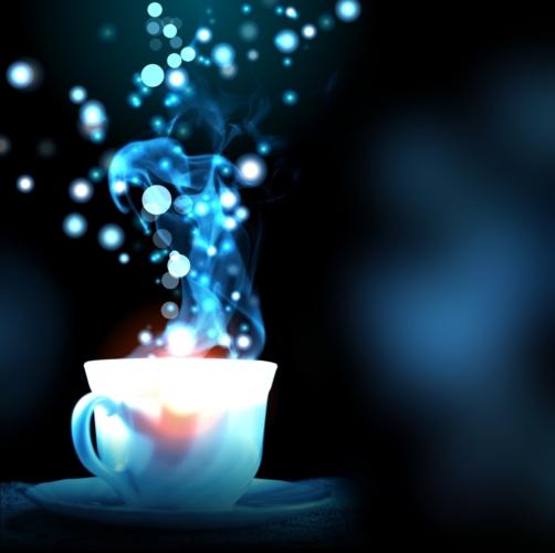 レトロな青い照明がムードたっぷりの「喫茶ソワレ」