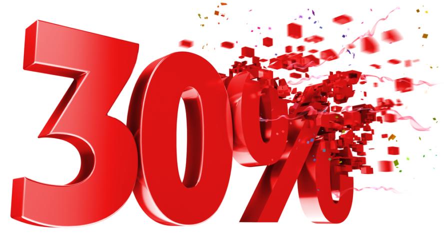 ブライダルジュエリー専門店の広告宣伝費率が約30%