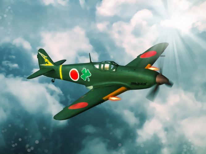 大東亜戦争のころの戦闘機「一式戦闘機・隼(キ43)」