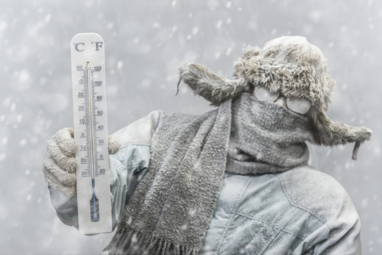 寒さとは体感温度である