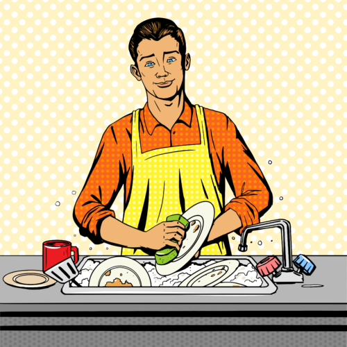 ビル・ゲイツ氏が皿洗い??