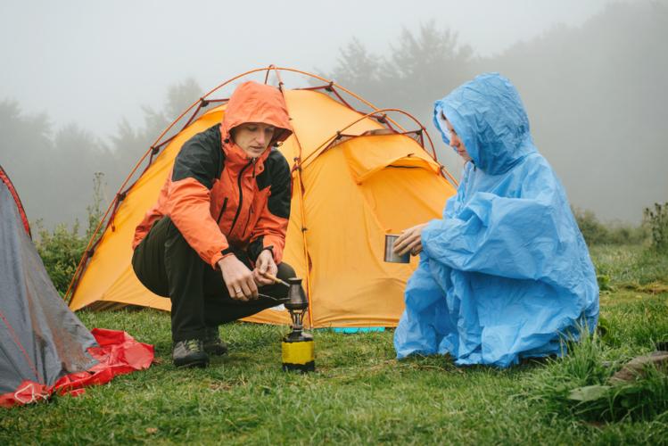 山でのキャンプは虫に注意です。