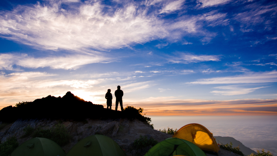 山でのキャンプの注意点について紹介していきます。