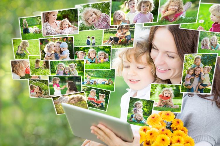 家族の思い出写真は簡単に取り出せる形式で保存
