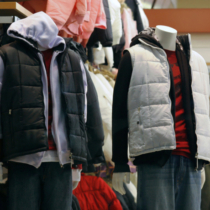 Winter Clothing inside a Store