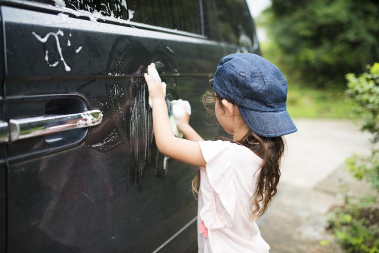 手洗い洗車をしよう!