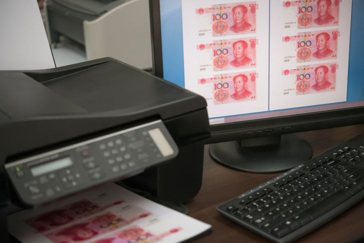 偽札の多さ、国家のバックアップの多さが普及につながった