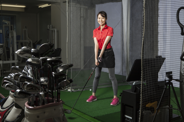 室内でもゴルフができる