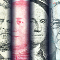 Portraits / images / faces of famous leader on banknotes,