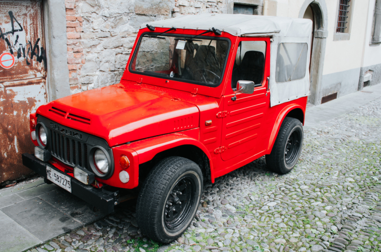 Red Suzuki LJ vintage car
