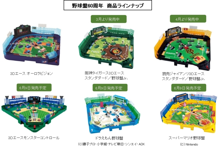 様々な野球盤