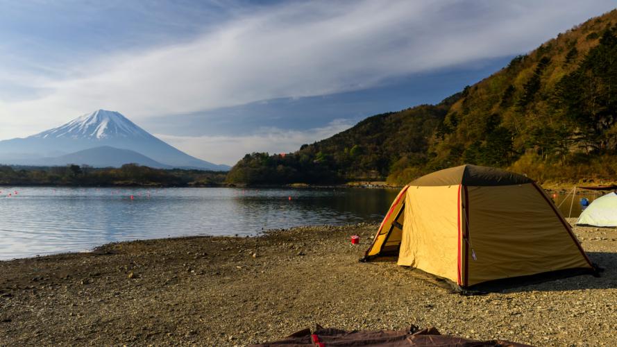 キャンプのテント!