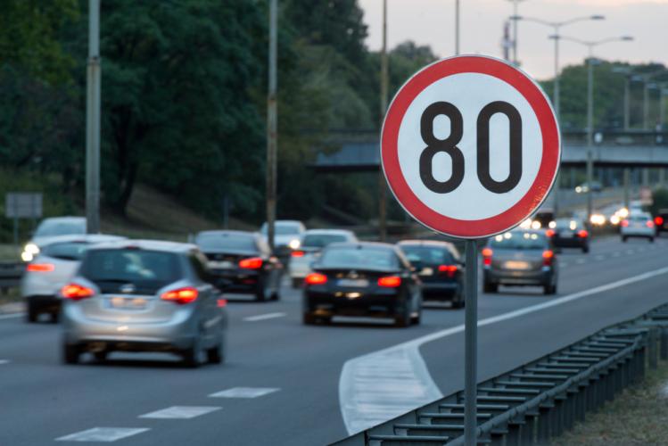 一般道での最高速度は60キロだった