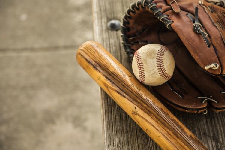 野球選手と手袋!