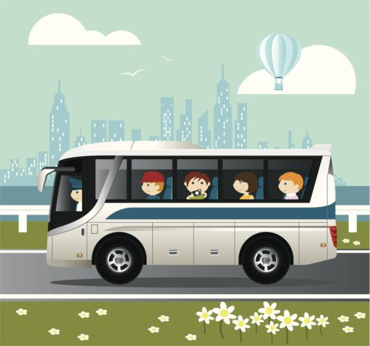送迎バスから楽しめる