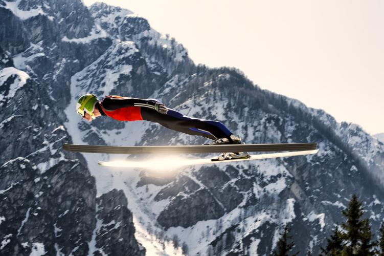 スキージャンプが熱い