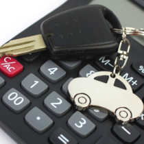 Car Key and Calculator